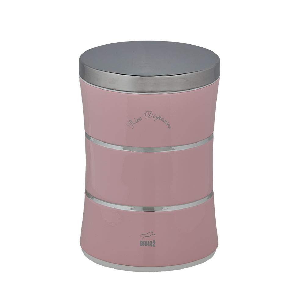 Light Pink Slim Rice Bin With Double Lines