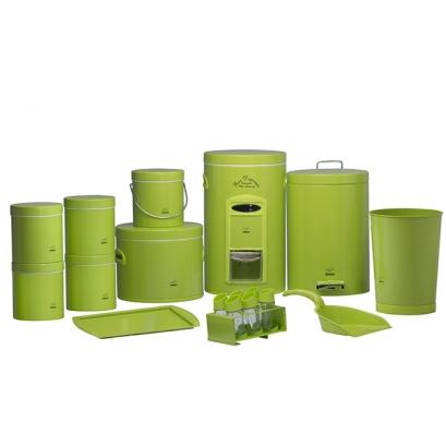 سرویس جهیزیه 18 پارچه سبز فلزی