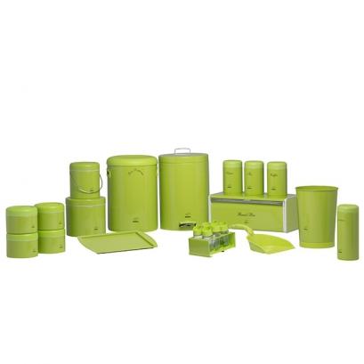 سرویس جهیزیه 23 پارچه ساده سبز در پلیمری