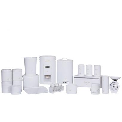 سرویس جهیزیه 25 پارچه سفید در پلیمری