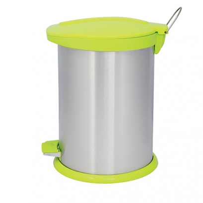 سطل زباله پدالدار 14 لیتری BZ71 سطل 14 لیتری پدالدار BZ71 استیل سبز