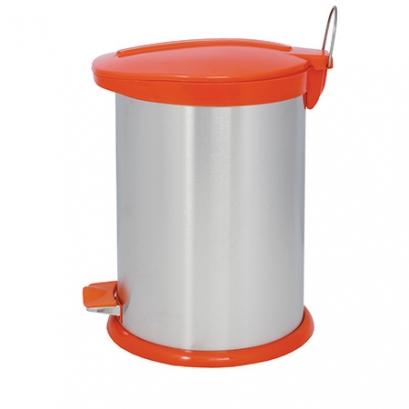 Steel-Orange Pedal Bin BZ71 - 14 Liters