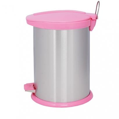 Steel-Pink Pedal Bin BZ71 - 14 Liters