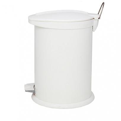 Steel-White Pedal Bin BZ71 - 14 Liters
