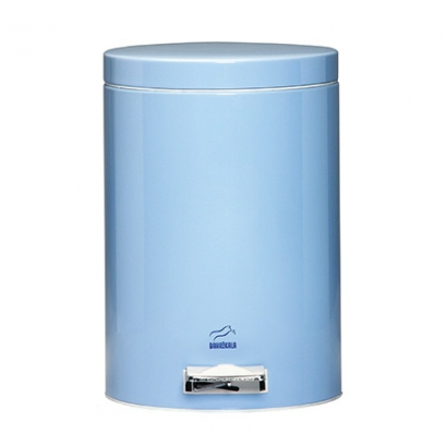 سطل 14 لیتری پدالدار آبی براق