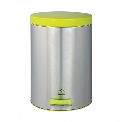 Steel-Green Pedal Bin - 14 Liters (Metal door)
