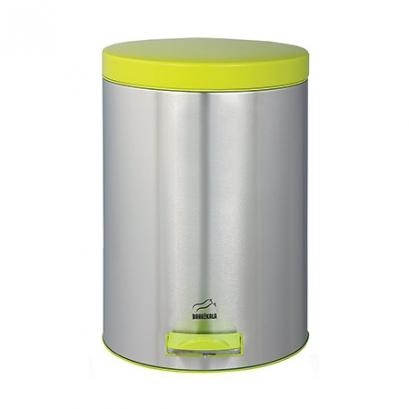 سطل 14 لیتری پدالدار استیل در فسفری
