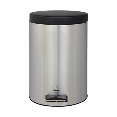 Steel-Black Pedal Bin - 6 Liters (Metal door)