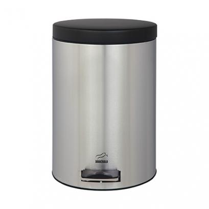 سطل زباله پدالدار 14 لیتری Silent استیل مشکی