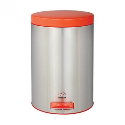 سطل 14 لیتری پدالدار استیل در نارنجی