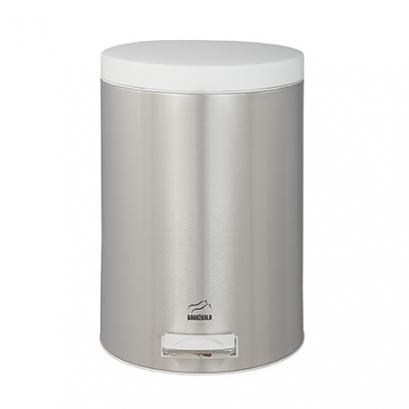 سطل زباله پدالدار 14 لیتری Silent استیل سفید