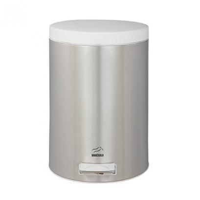 سطل 14 لیتری پدالدار استیل در سفید