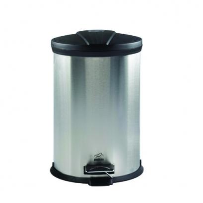 سطل زباله پدالدار 20 لیتری استیل در مشکی