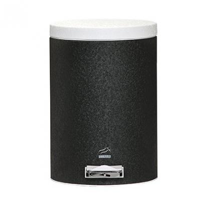 سطل 14 لیتری پدالدار مشکی چروک در سفید