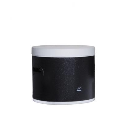سطل قند مشکی چروک در سفید