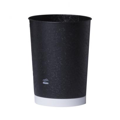 سطل زباله مخروطی مشکی سفید چروک
