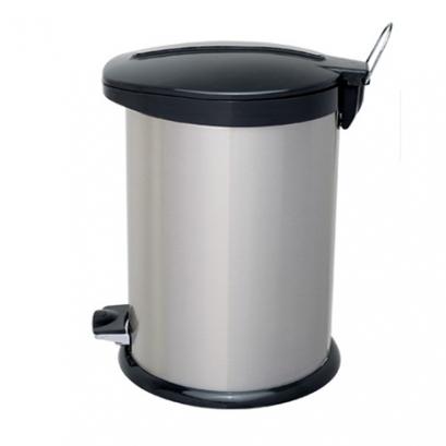 سطل زباله پدالدار 14 لیتری BZ71 سطل 14 لیتری پدالدار BZ71 استیل مشکی