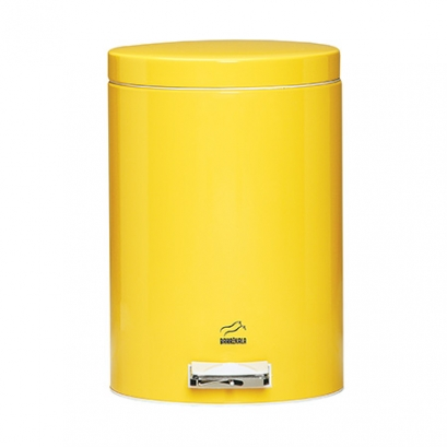 Yellow Pedal Bin - 14 Liters (Metal door)