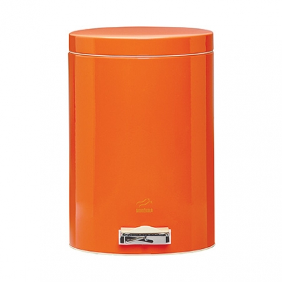 Orange Pedal Bin - 14 Liters (Metal door)