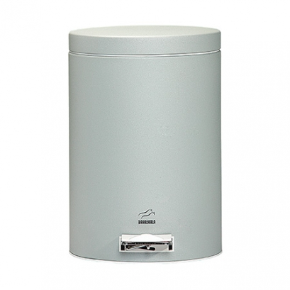 Silver Pedal Bin - 6 Liters (Metal door)
