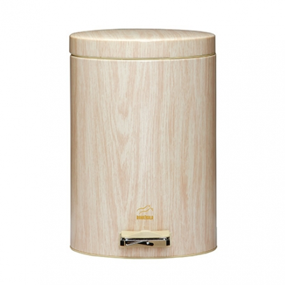 Light Wood Pedal Bin - 14 Liters (Metal door)