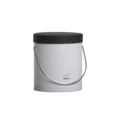 سطل روغن سفید چروک در مشکی