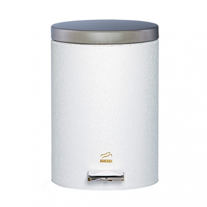 Wrinkle White Pedal Bin - 14 Liters (Steel door)