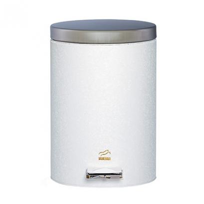 سطل 14 لیتری پدالدار سفید چروک در استیل