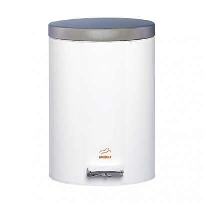 White Pedal Bin - 6 Liters (Steel door)