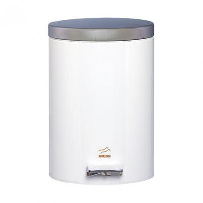 سطل 14 لیتری پدالدار سفید در استیل
