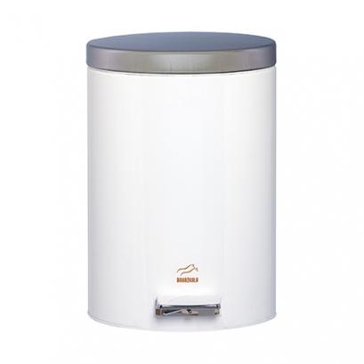 سطل پدالدار  6 لیتری سفید براق در استیل