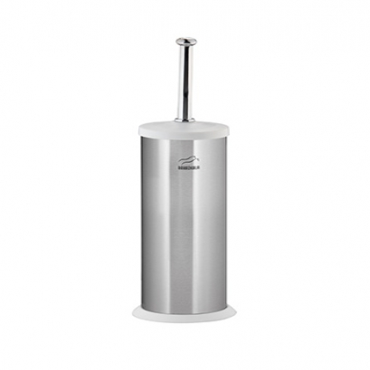 Steel-White Toilet Brush & holder