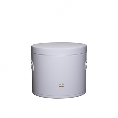 سطل قند سفید در فلزی