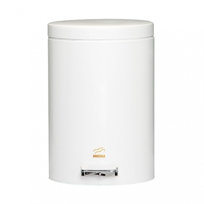 White Pedal Bin - 6 Liters (Metal door)