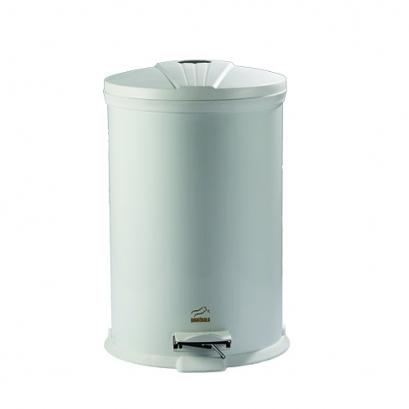 سطل زباله پدالدار 20 لیتری سفید براق در پلیمری