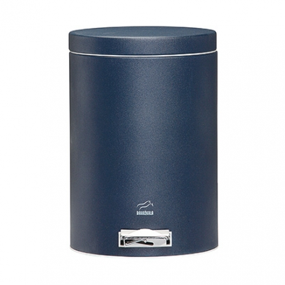 Navy blue Pedal Bin - 6 Liters (Metal door)