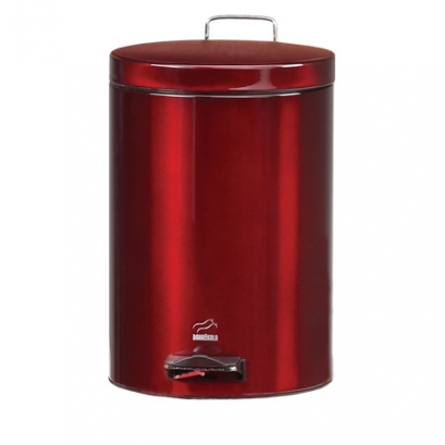 Red-Steel Pedal Bin - 14 Liters (Steel door)