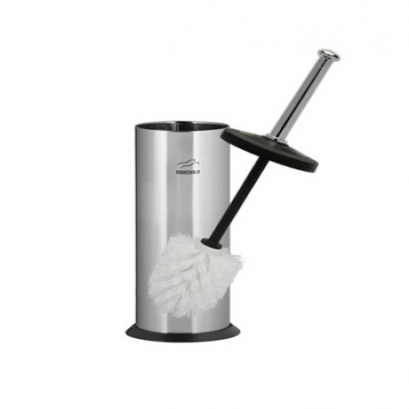 Steel-Black Toilet Brush & holder