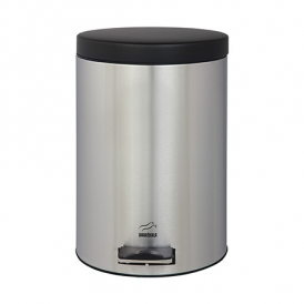 Steel-Black Pedal Bin - 6 Liters (Metal Lid)