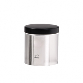Steel-Black Grain Canister - Metal Lid