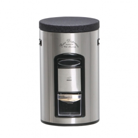 Steel-black Rice Bin with Measurement - Metal Lid