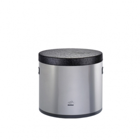 Steel-black Sugar Cube Canister - Metal Lid