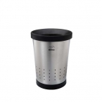 Steel-Black Conical Waste Paper Bin with holes